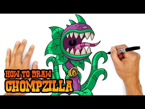 How to Draw Plants vs Zombies | Chompzilla