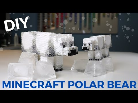 DIY 3D Perler/Artkal Bead Minecraft Polar Bear
