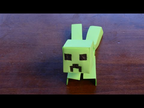 Minecraft Mutant Creeper Origami Tutorial