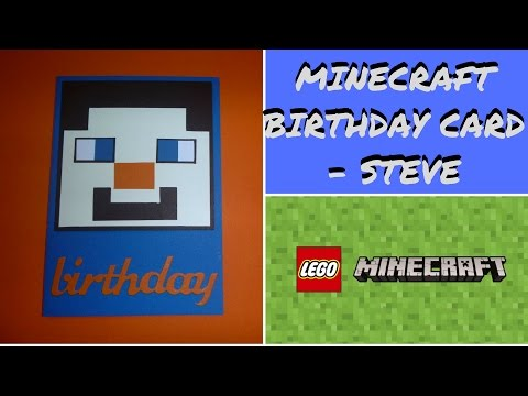 Lego Minecraft Birthday Card – Minecraft Steve