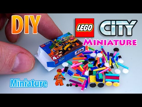 Mini LEGO City Construction Set – Tutorial DIY dollhouse accessories