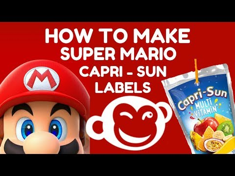 PICMONKEY MONDAY:  HOW TO MAKE SUPER MARIO BROTHERS CAPRI SUN LABELS