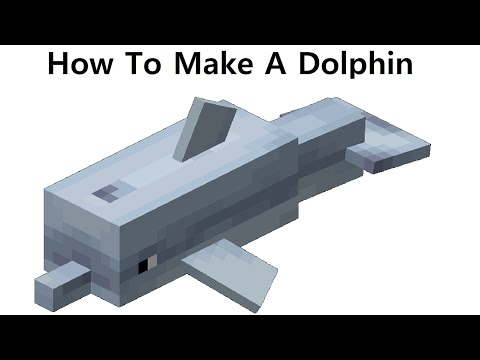 How to make a paper Minecraft Dolphin. Papercraft toy. Easy to make. Minecraft DIY