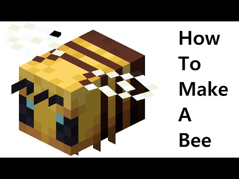 How to make a paper Bee ( Minecraft ) Papercraft toy. Easy to make. Papercraft Minecraft