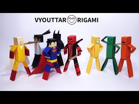 How to make paper characters – minecraft characters without glue 2 – Vyouttar Origami