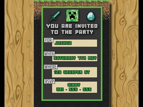 Minecraft Birthday Invitation – Download Free Party Invite – HOW TO