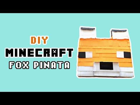 Minecraft Fox Pinata 🦊 [DIY Crafts]
