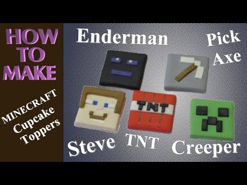 MINECRAFT Cupcake & Cake Decoration Tutorial – Step by Step – How to Make Caketastic Cakes