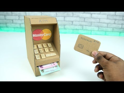 ATM DIY || How to Make an ATM Machine from Cardboard for Kids DIY at Home