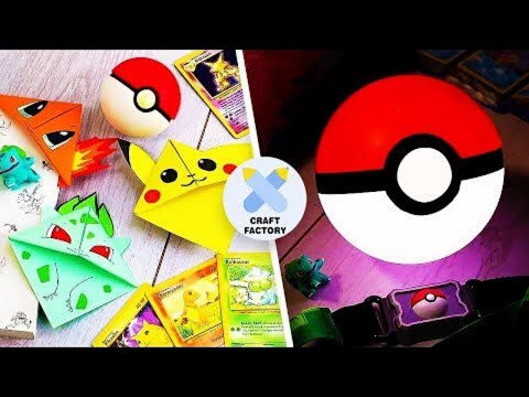 3 Easy Pokemon Crafts | DIY Activities For Kids | Pokemon DIYs | Craft Factory