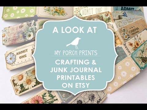 Junk Journal & Crafting Printables from My Porch Prints