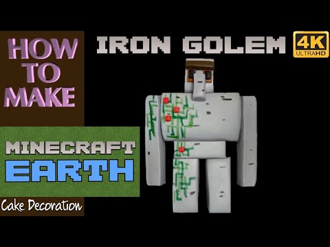 IRON GOLEM from MINECRAFT Cake Decorating Tutorial – How to Make Cake Decorations