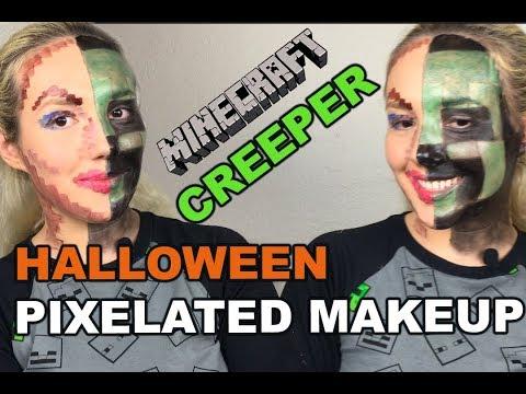 PIXELATED MAKEUP TUTORIAL |  | MINECRAFT CREEPER
