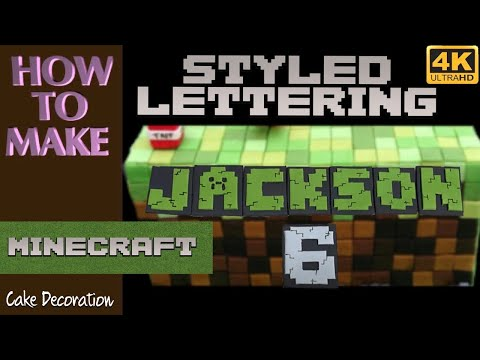 LETTERS styled MINECRAFT Cake Decorating Tutorial How to Make Cake MINECRAFT Decorations Caketastic