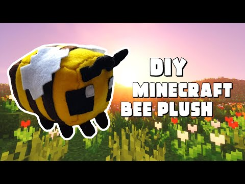 How to Make a Minecraft Bee Plush [Free Pattern]