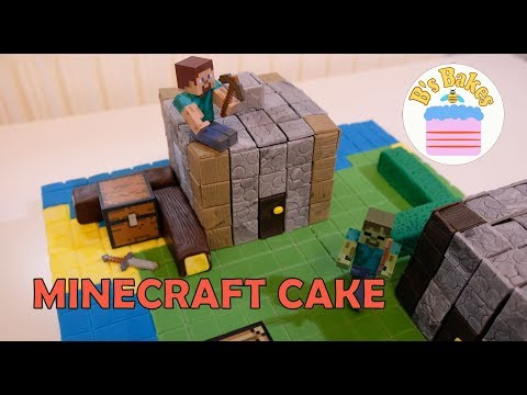 MINECRAFT VILLAGE CAKE – simple, fun cake to make for Kids