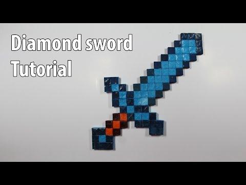 Easy Paper Minecraft Diamond sword tutorial – DIY (Henry Phạm)