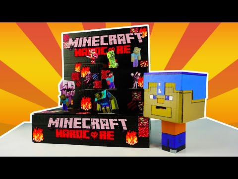 How To Make MINECRAFT Shootout Game | DIY Cardboard Arcade Creation