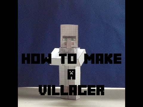 How to make a Minecraft Villager