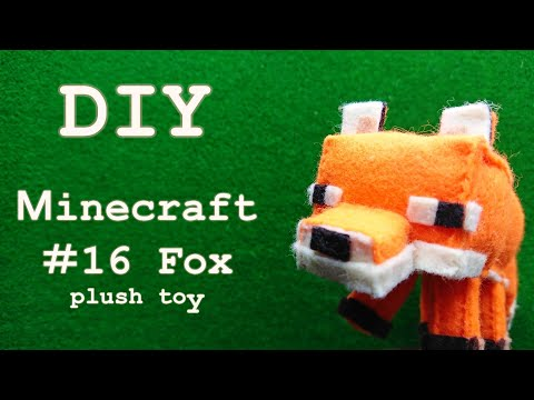 [DIY Minecraft ] Fox – How to make a plush toy –