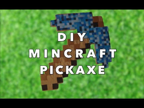 Cardboard Minecraft Pickaxe Tutorial | Easy Affordable DIY Party Favor