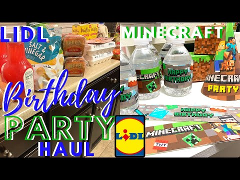 MINECRAFT & BURGER BAR | LIDL & AMAZON | BIRTHDAY PARTY FOOD AND DECOR HAUL