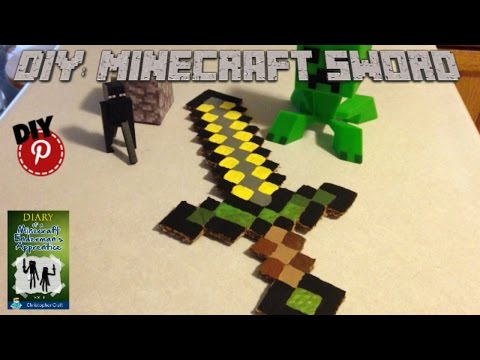 DIY: Minecraft Sword From Diary Of A Minecraft Enderman's Apprentice By Christopher Craft