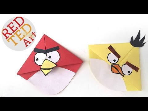 Angry Birds Crafts – Easy Bookmark Corners with Michelle's Cuties – Angry Bird Bookmark