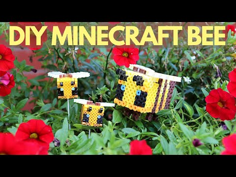 DIY Minecraft Bee Perler Bead Figure