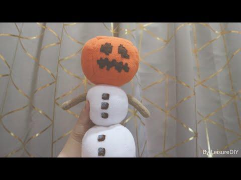 How to make Minecraft snow golem plush toy?DIY minecraft snow golem plushie(FREE Pattern) Tutorial