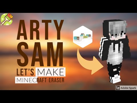 LET'S MAKE MINECRAFT ERASER // A SMALL DIY (STEVE)