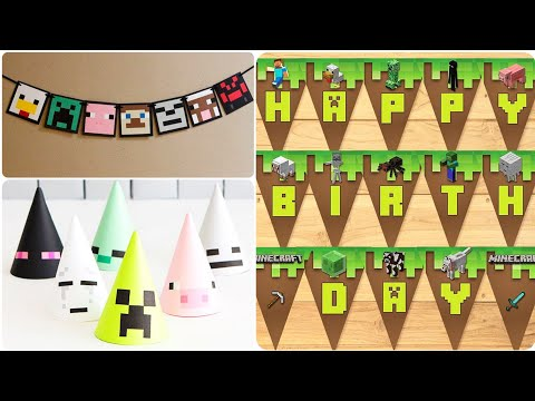 Cool Minecraft Party Theme Decorations Ideas | Best & Creative Party Decorations Ideas