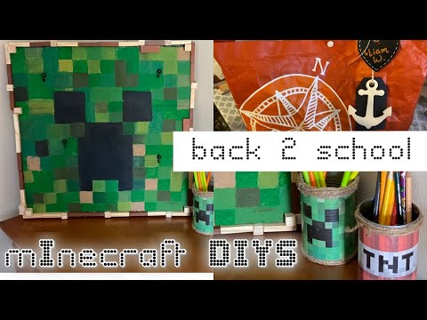 Heidi Sonboul DIY Challenge | Minecraft Crafts | Back to school kids desk| Teacher gift ideas