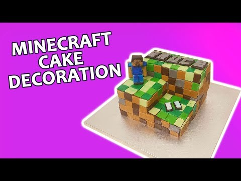 Minecraft cake decoration | Minecraft Birthday Cake