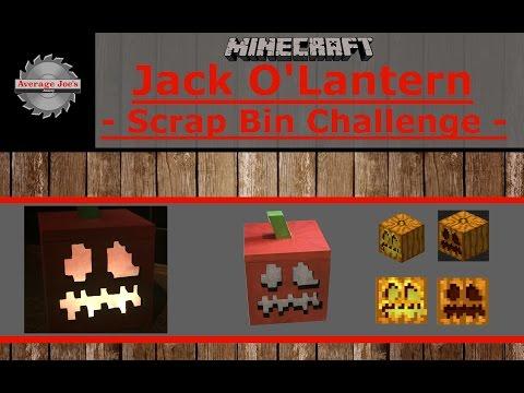 Minecraft Jack O'Lantern – Scrap Bin Challenge –