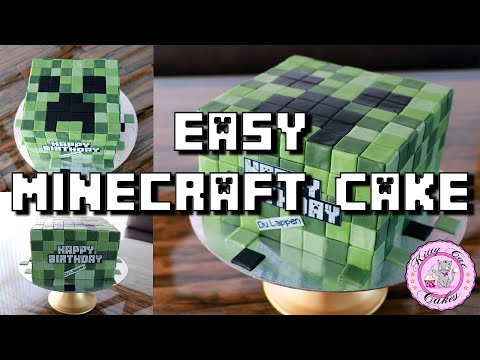 Minecraft Creeper Cake Tutorial