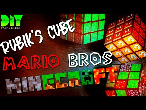 LEARN HOW TO MAKE : MINECRAFT / MARIOS BROS CUSTOM RUBIK'S CUBE | DIY | FULL HD
