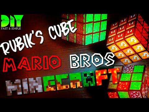 LEARN HOW TO MAKE : MINECRAFT / MARIOS BROS CUSTOM RUBIK'S CUBE | DIY | FULL HD