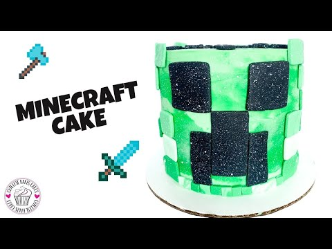 Easy DIY MINECRAFT birthday CAKE | HOW TO MAKE A CREEPER!