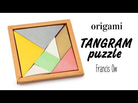 Origami Tangram Puzzle Tutorial (Francis Ow) – DIY – Paper Kawaii