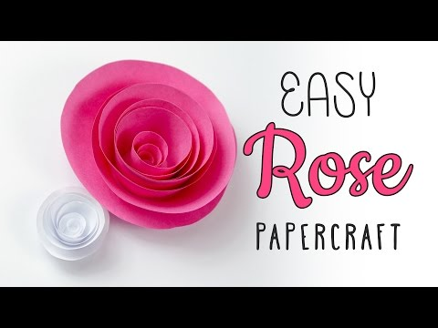 Easy Papercraft Rose Swirl Tutorial – DIY – Paper Kawaii