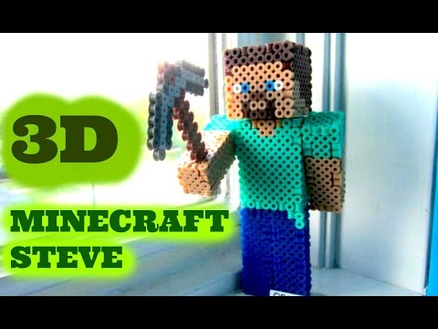 3D Perler Bead Minecraft Steve Figure (FULL TUTORIAL)