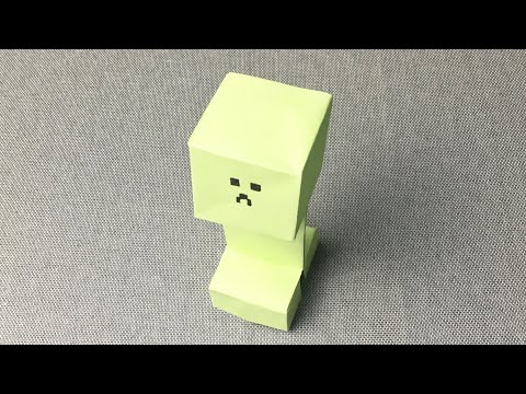 How to Make an Origami Creeper – a kind of creature in the game 'my world'