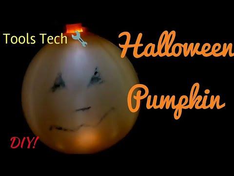 How to make a Halloween Pumpkin using a balloon | Do it yourself | Tools Tech