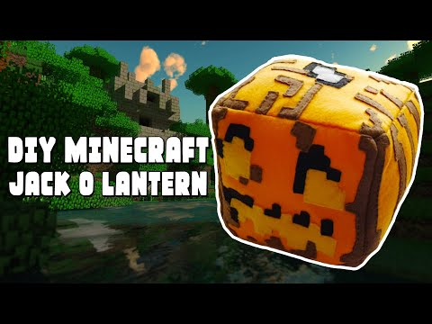 How to Make a Minecraft Jack o'Lantern Plushie [Free Pattern]