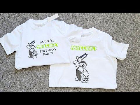 #Minecraft #t-shit #birthday DIY Minecraft Birthday T-shirts