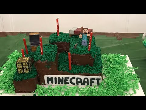 How to make a MINECRAFT Birthday Cake