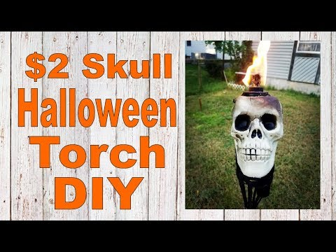 $2 Skull Halloween Torch