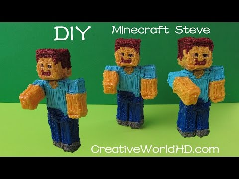 How to Make Minecraft Steve 3D Figurine – 3d Printing Pen Creations//Scribbler DIY Tutorial