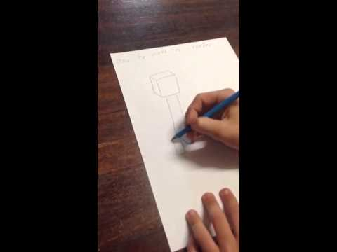How to draw a 3d creeper of minecraft